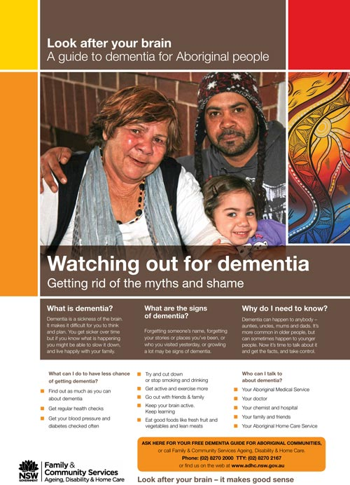 Living with Dementia campaign - Client: Ageing, Disability and Homecare (ADHC)